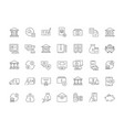 set simple icons bank vector image vector image