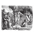 the resurrection of lazarus of bethany vintage vector image vector image