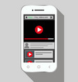 view video on phone vector image