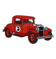 Vintage racing car vector image vector image