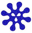 virus icon grunge watermark vector image