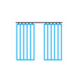 window shades linear icon concept window shades vector image