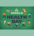 world health day 7th april with the image of vector image vector image