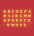 shiny gold letters golden typeface font vector image