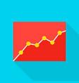 data analytics flat icon vector image