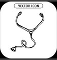 stethoscope icon hand drawing vector image