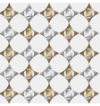 Seamless pattern gold and silver geometric vector image