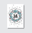 2018 in garland doodle greeting card happy new vector image