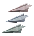 3 paper planes vector image