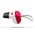 A Whistle of The Udmurt Republic Flag vector image vector image