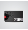 Abstract Beautiful Music Gift Card Design vector image