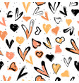 abstract seamless heart pattern vector image