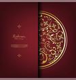 arabesque thai element pattern gold background vector image