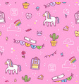 awesome stuff pattern vector image