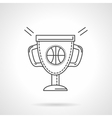 Basketball cup flat line design icon vector image vector image