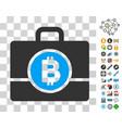 bitcoin case icon with bonus vector image vector image