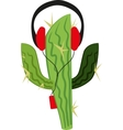 Cactus in the player vector image vector image