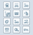 Car service icons - TECH series vector image vector image