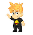 cartoon cool boy vector image vector image
