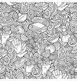cartoon cute doodles spa massage seamless pattern vector image vector image