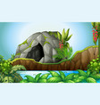 cave in the nature vector image