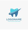 check mark and shinning teeth logo icon template vector image