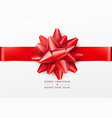 christmas background white gift box with red bow vector image