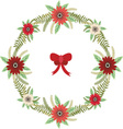 Christmas Floral wreath with red bow set
