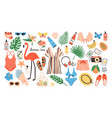 collection bright colored summer clothes vector image