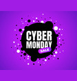 cyber monday discount sale concept inscription vector image