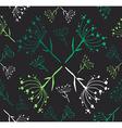 Dandelion flower pattern vector image