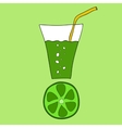 Doodle lime juice vector image vector image