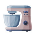 electric food processor with bowl household vector image