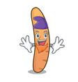 elf baguette character cartoon style vector image