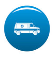 fast ambulance icon blue vector image vector image