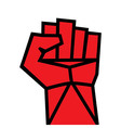 Fist red clenched hand vector image vector image