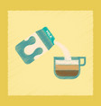 flat shading style icon coffee carton of milk vector image vector image
