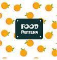 food pattern orange background image vector image vector image