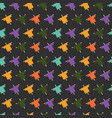halloween seamless pattern with colorful vector image