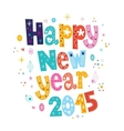Happy New year 2015 card 3 vector image vector image