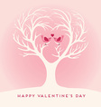 Happy Valentines Day lovebirds vector image vector image
