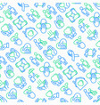 help and care seamless pattern vector image vector image