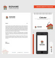 home business letterhead calendar 2019 and mobile vector image