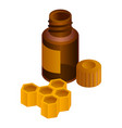 honeycomb mixture icon isometric style vector image