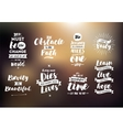 Inspirational quotes set vector image vector image