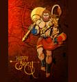 lord hanuman on happy dussehra navratri festival
