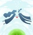 loving man and woman vector image vector image