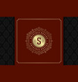luxury logo template golden vintage vector image vector image