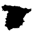 map of spain vector image vector image