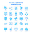 marketing blue tone icon pack - 25 icon sets vector image vector image